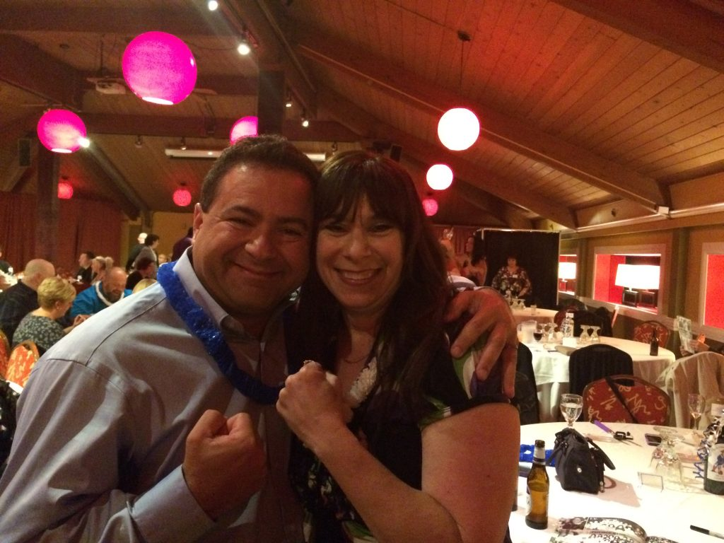 Nick Iandolo and Charlene (Lombardi) Turgeon present day: just like old times!