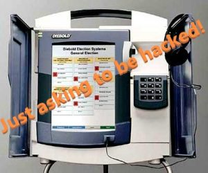 Diebold Voting Machine — Just asking to be hacked!