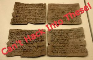 Roman Paper Ballots/Writing Tablets — Can't hack into these!